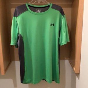 Men's Under Neon Green Armour Shirt